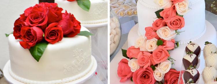 menor precio pasteles de boda flores naturales