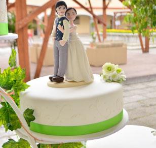 Precio pastel de boda diseño sobrio
