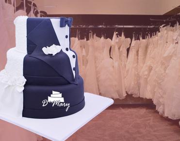 reservar pastel y elegir vestido