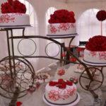 Pastel para boda Rojo, Base Bicicleta
