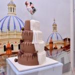 Pastel matrimonio Chocolate y Blanco